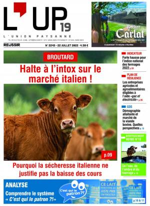 La couverture du journal L'Union paysanne n°2851 | octobre 2018