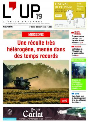 La couverture du journal L'Union paysanne n°1939 | ao�t 2016