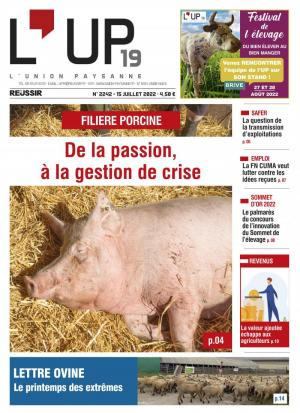 La couverture du journal L'Union paysanne n°2871 | mai 2021